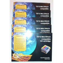 Epson T0715 x 5 db BCMY Multipack kompatibilis (utángyártott) tintapatron